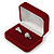 Luxury Red Velour Wedding Two Ring Box - view 7
