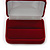 Luxury Red Velour Wedding Two Ring Box - view 4