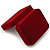 Luxury Red Velour Wedding Two Ring Box - view 5