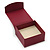Stylish Cranberry Square Cardboard Gift Box with Magnetic Lid Closure - view 2