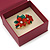 Stylish Cranberry Square Cardboard Gift Box with Magnetic Lid Closure - view 4
