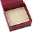 Stylish Cranberry Square Cardboard Gift Box with Magnetic Lid Closure - view 3