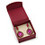 Stylish Cranberry Square Cardboard Gift Box with Magnetic Lid Closure - view 6