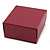 Stylish Cranberry Square Cardboard Gift Box with Magnetic Lid Closure - view 9