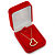 Luxury Red Velour Brooch/ Pendant/ Earring Jewellery Box - view 6