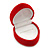 Small Red Velour Heart Ring Jewellery Box - view 2