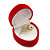 Small Red Velour Heart Ring Jewellery Box - view 5