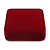 Large Luxury Square Burgundy Velour Brooch/ Pendant/ Earrings Jewellery Box - view 8