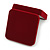 Large Luxury Square Burgundy Velour Brooch/ Pendant/ Earrings Jewellery Box - view 7