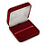 Large Luxury Square Burgundy Velour Brooch/ Pendant/ Earrings Jewellery Box - view 2