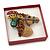 Glitter Red Earrings/ Brooch/ Pendant/ Set Jewellery Box - view 3
