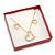 Glitter Red Earrings/ Brooch/ Pendant/ Set Jewellery Box - view 5