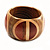 Boho Mod Wooden Bangle  - view 3