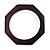Thin Octagonal Wood Bangle (Dark Brown)