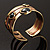 Two-Tone Geometric Hematite Ethnic Cuff Bangle - view 15