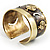 Swirl Pattern Asymmetrical Ethnic Cuff - view 9