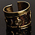 Swirl Pattern Asymmetrical Ethnic Cuff - view 5