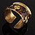 Swirl Pattern Asymmetrical Ethnic Cuff - view 2