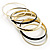 Patterned Metal Bangles - Set of 6 (Gold &amp; Black)