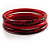 Animal Print Wood Bangles- Set of 3 (Red&Black) - view 3