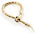 Gold Tone Mesmerized Fashion Snake Bangle Bracelet (18cm) - view 8