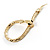 Gold Tone Mesmerized Fashion Snake Bangle Bracelet (18cm) - view 9