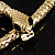 Gold Tone Mesmerized Fashion Snake Bangle Bracelet (18cm) - view 2