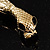Gold Tone Mesmerized Fashion Snake Bangle Bracelet (18cm) - view 5