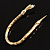 Gold Tone Mesmerized Fashion Snake Bangle Bracelet (18cm) - view 6