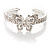 Diamante Butterfly Flex Bangle Bracelet - view 8