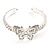 Diamante Butterfly Flex Bangle Bracelet - view 2