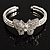 Diamante Butterfly Flex Bangle Bracelet - view 1
