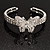 Diamante Butterfly Flex Bangle Bracelet - view 7