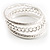 Patterned Metal Bangles - Set of 3 (Silver Tone) - view 8