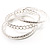 Patterned Metal Bangles - Set of 3 (Silver Tone) - view 9