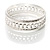 Patterned Metal Bangles - Set of 3 (Silver Tone) - view 10