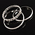 Patterned Metal Bangles - Set of 3 (Silver Tone) - view 5