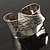 Hammered Stainless Steel Tribal Sail Cuff-Bangle - view 6