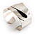 Hammered Stainless Steel Tribal Sail Cuff-Bangle - view 4