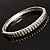 Slim Crystal Bangle Bracelet (Silver Tone) - view 5