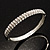 Slim Crystal Bangle Bracelet (Silver Tone)