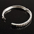 Slim Crystal Bangle Bracelet (Silver Tone) - view 3