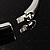 Slim Crystal Bangle Bracelet (Silver Tone) - view 7