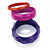 Purple, Bright Pink And Orange Acrylic Bangles - Set Of 3