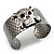 Swarovski Crystal Skull Cuff Bangle (Silver Tone Metal) - view 9