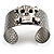 Swarovski Crystal Skull Cuff Bangle (Silver Tone Metal) - view 10