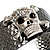 Swarovski Crystal Skull Cuff Bangle (Silver Tone Metal) - view 2