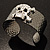 Swarovski Crystal Skull Cuff Bangle (Silver Tone Metal) - view 8