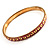 Set Of 5 Pcs Metal Gold Bangles (Pink Enamel) - view 9