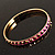 Set Of 5 Pcs Metal Gold Bangles (Pink Enamel) - view 6